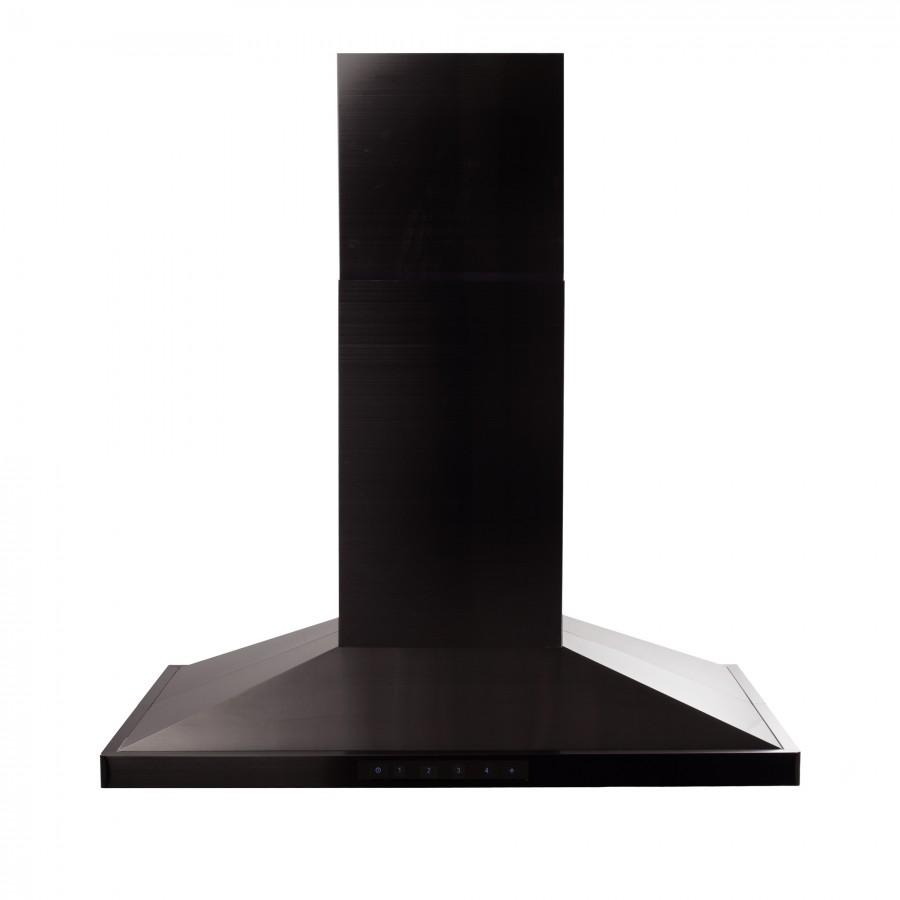 "ZLINE 36"" Island Range Hood in Black Stainless Steel, BSGL2iN-36 - Farmhouse Kitchen and Bath"
