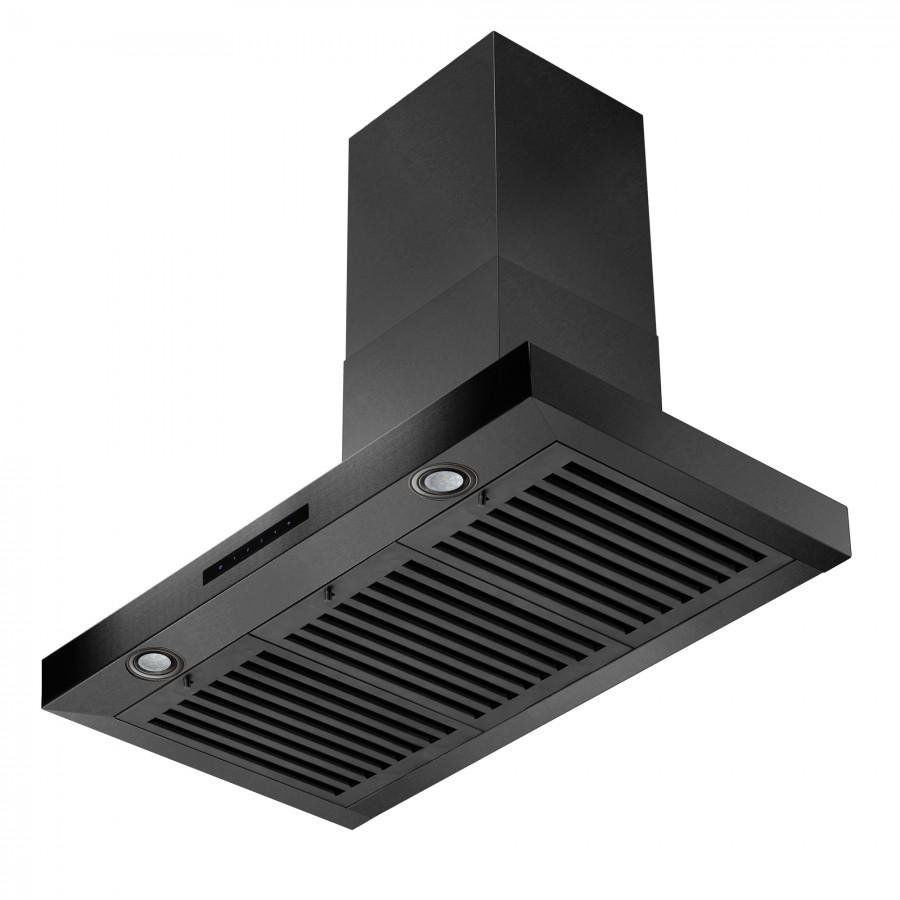 "ZLINE 36"" Wall Mount Range Hood in Black Stainless Steel, BSKEN-36 - Farmhouse Kitchen and Bath"