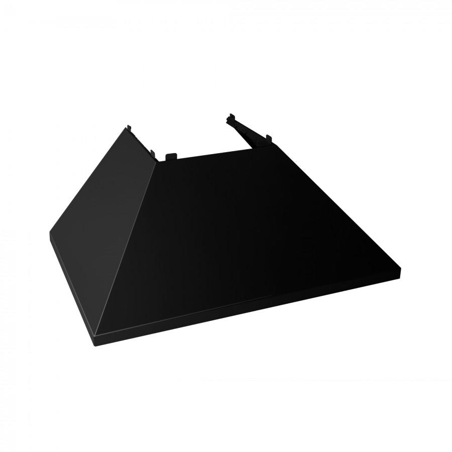 "48""Colored Range Hood Shell in Black Matte, Shell Only, 8654-SH-BLM-48 - Farmhouse Kitchen and Bath"