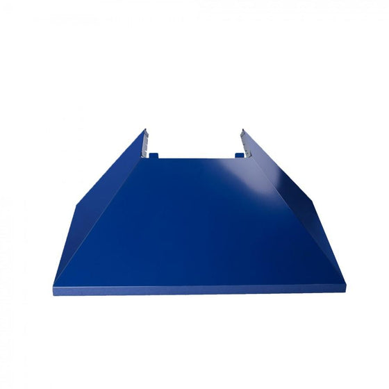 "36"" Colored Range Hood Shell in Blue Gloss, Shell Only, 8654-SH-BG-36 - Farmhouse Kitchen and Bath"