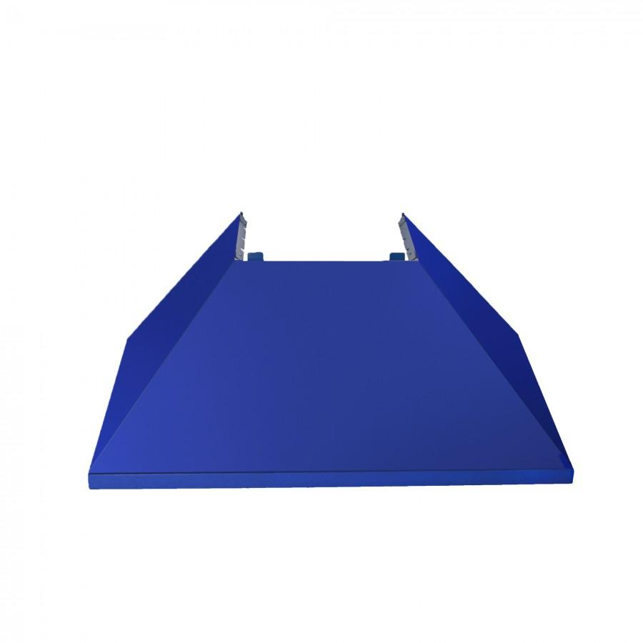 "48"" Colored Range Hood Shell in Blue Matte, Shell Only, 8654-SH-BM-48 - Farmhouse Kitchen and Bath"