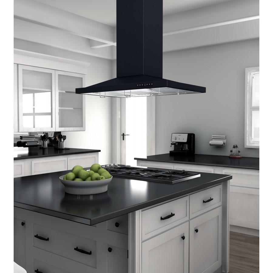 "ZLINE 36"" Oil-Rubbed Bronze Island Range Hood 8GL2Bi-36 - Farmhouse Kitchen and Bath"