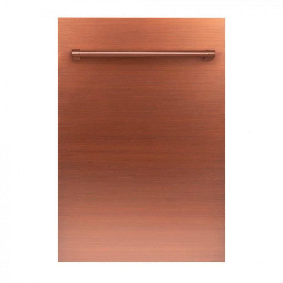 "ZLINE 18"" Dishwasher Panel, Copper, Traditional Handle, DP-C-H-18 - Farmhouse Kitchen and Bath"