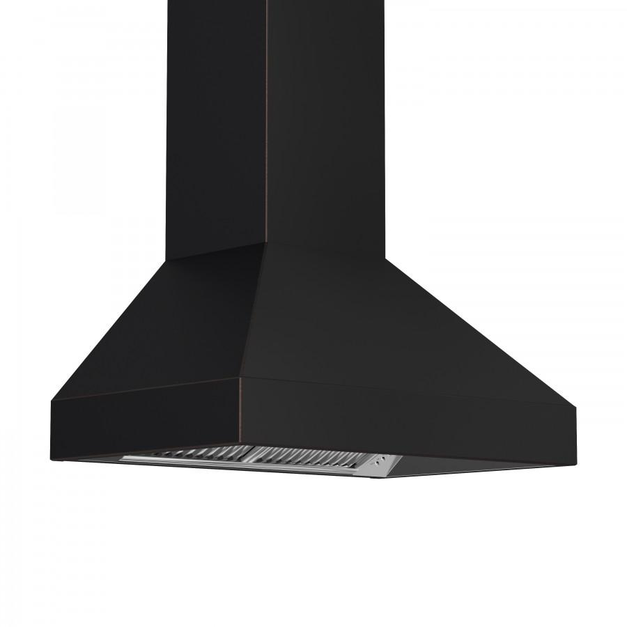"ZLINE 48"" Oil-Rubbed Bronze Wall Range Hood 8667B-48, 24"" depth - Farmhouse Kitchen and Bath"