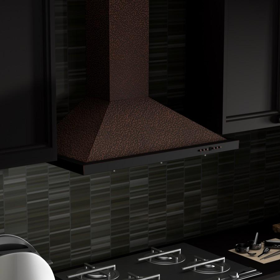 "ZLINE 30"" Copper Wall Range Hood, 8KBE-30 - Farmhouse Kitchen and Bath"