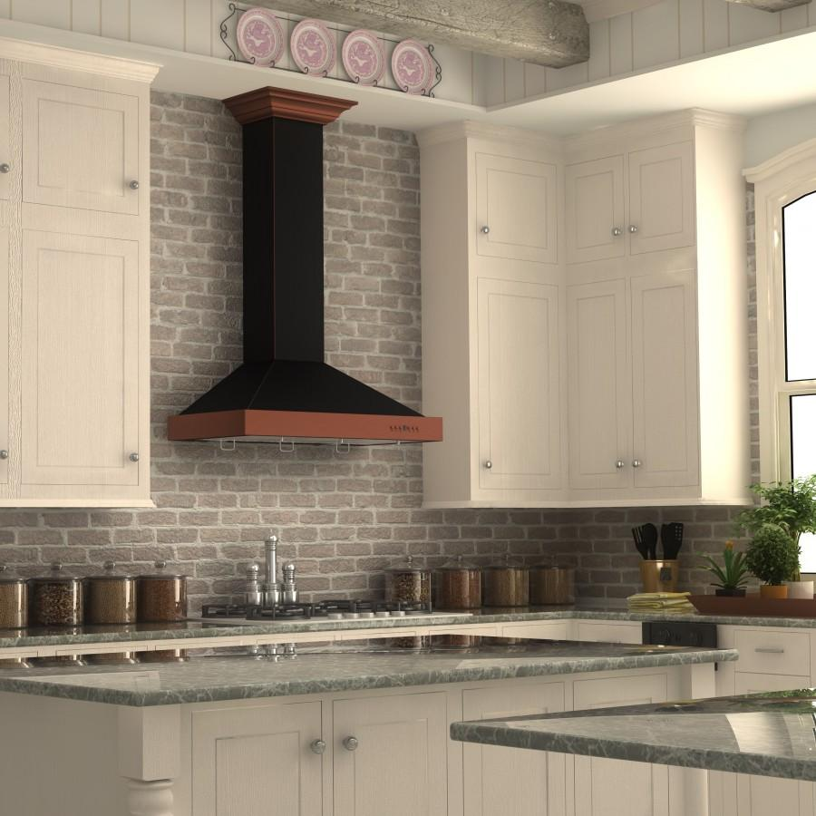 "ZLINE 30"" Designer Series Wall Mount Range Hood, KB2-BCXXX-30 - Farmhouse Kitchen and Bath"