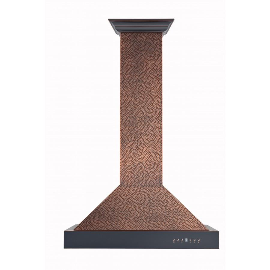 "ZLINE 30"" Hand-Hammered Copper Wall Range Hood, KB2-HBXXX-30 - Farmhouse Kitchen and Bath"