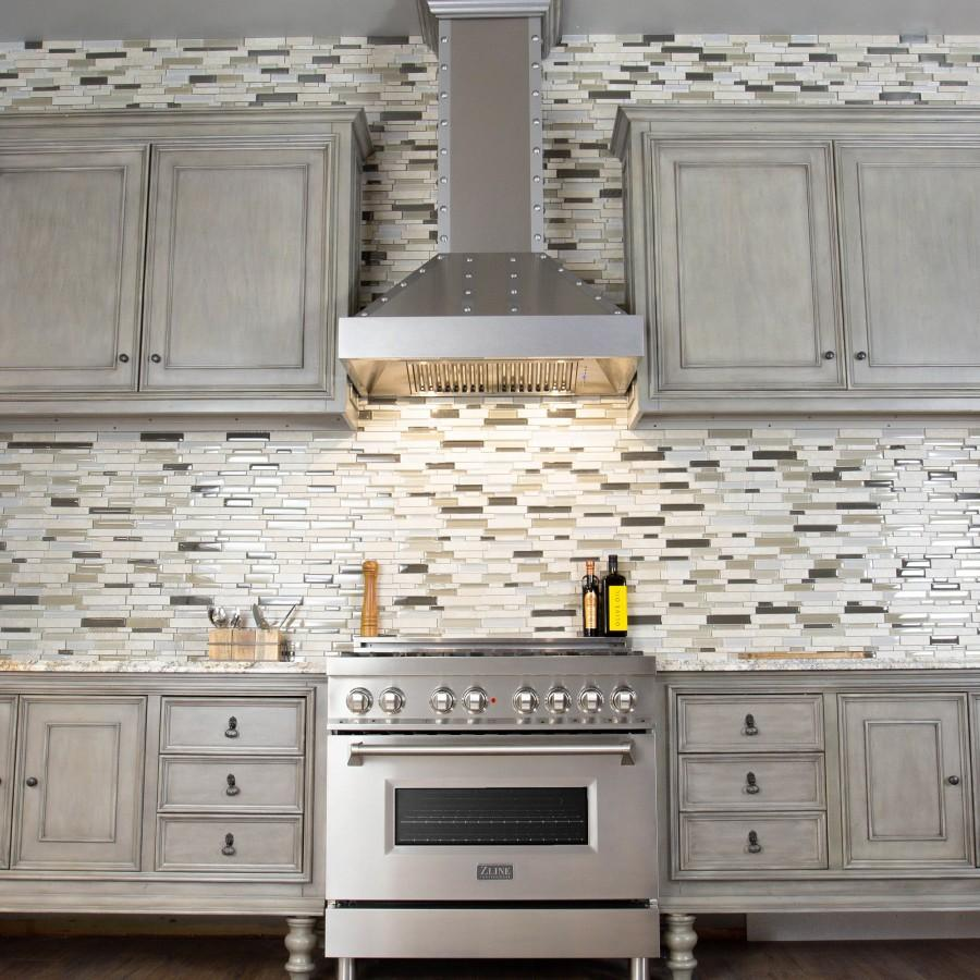 "ZLINE 36"" Stainless Wall Range Hood, 655-4SSSS-36 - Farmhouse Kitchen and Bath"