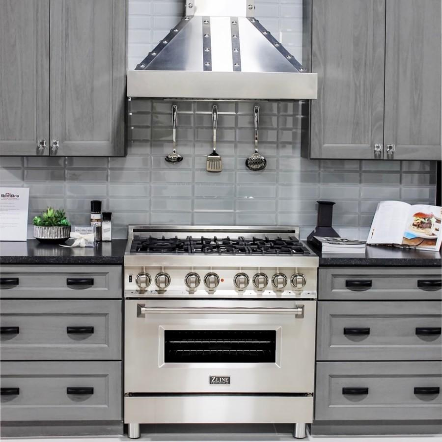 "ZLINE 30"" Stainless Wall Range Hood, 655-4SSSS-30 - Farmhouse Kitchen and Bath"