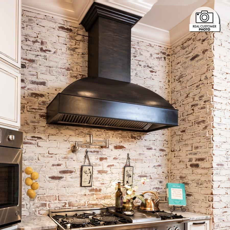 "ZLINE 36"" Unfinished Wooden Wall Range Hood,Remote Blower, 369UF-RD-36 - Farmhouse Kitchen and Bath"
