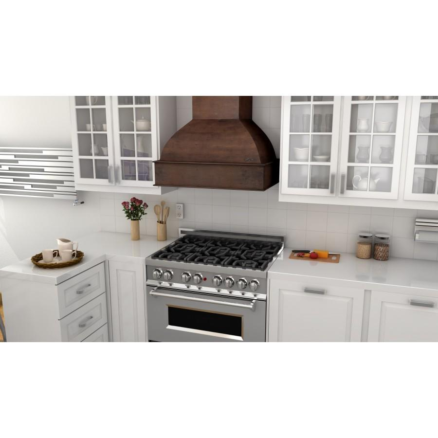 "ZLINE 30"" Wooden Wall Range Hood, Hamilton, Remote Motor, 369WH-RD-30 - Farmhouse Kitchen and Bath"
