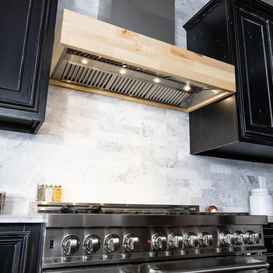 "ZLINE 36"" Remote Blower Wooden Wall Range Hood, 681M-RS-36-400 - Farmhouse Kitchen and Bath"