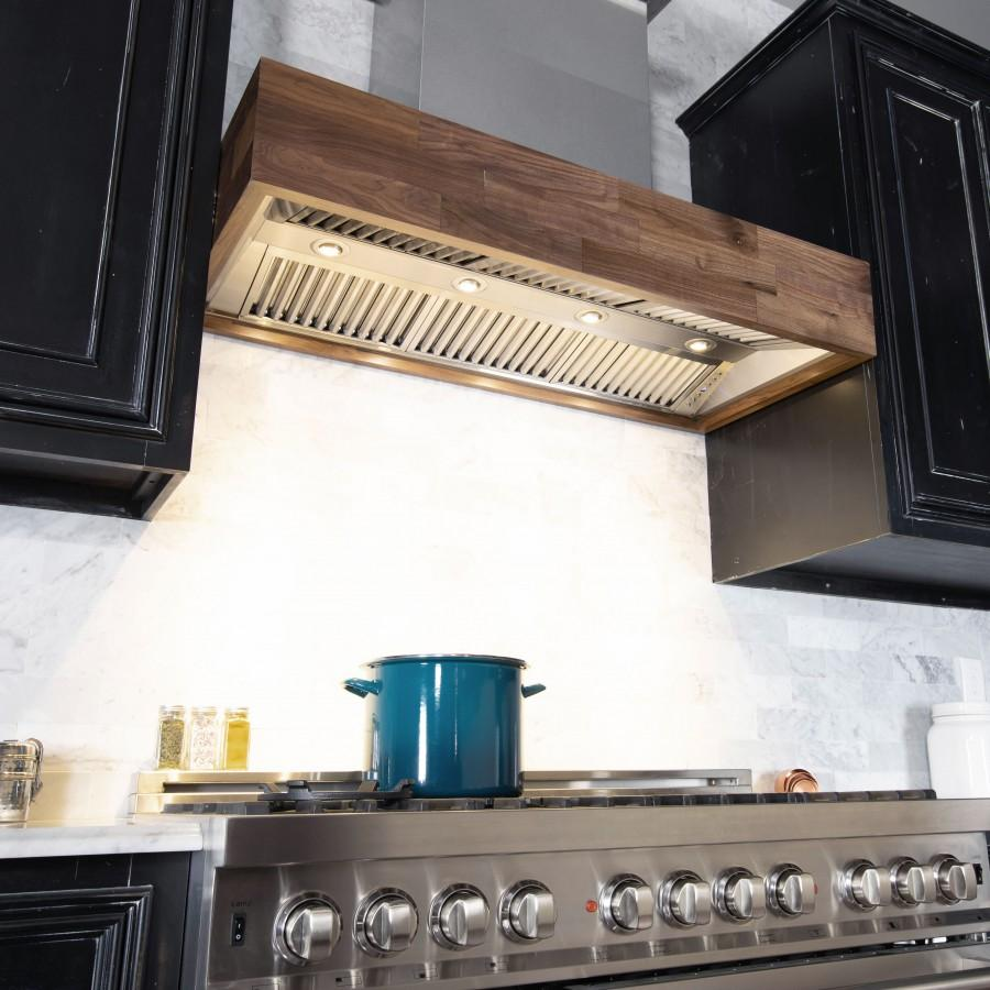 "ZLINE 36"" Remote Blower Wooden Wall Range Hood, 681W-RS-36-400 - Farmhouse Kitchen and Bath"