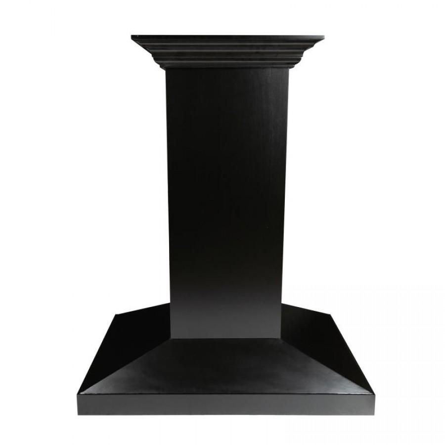"ZLINE 30"" Wooden Island Mount Range Hood, Black, KBiCC-RS-30-400 - Farmhouse Kitchen and Bath"