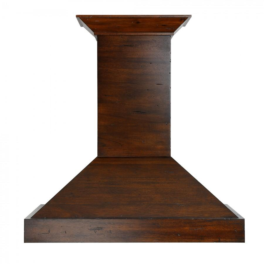"ZLINE 36"" Wooden Wall Range Hood in Walnut, KBRR-36 - Farmhouse Kitchen and Bath"
