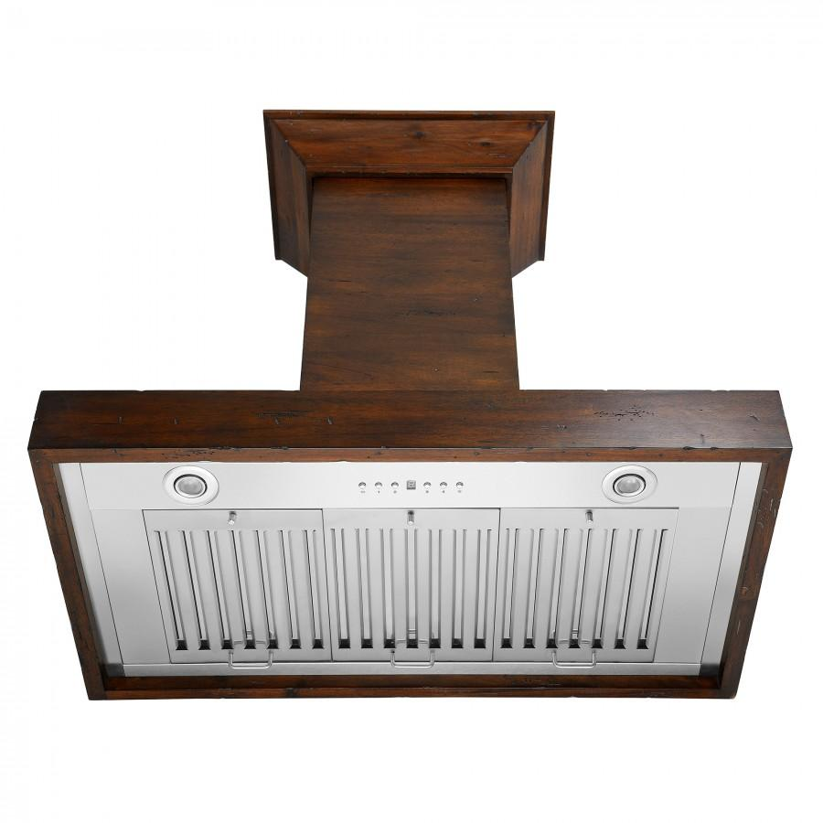 "ZLINE 36"" Wooden Wall Range Hood, Crown Molding KBRR-36 - Farmhouse Kitchen and Bath"