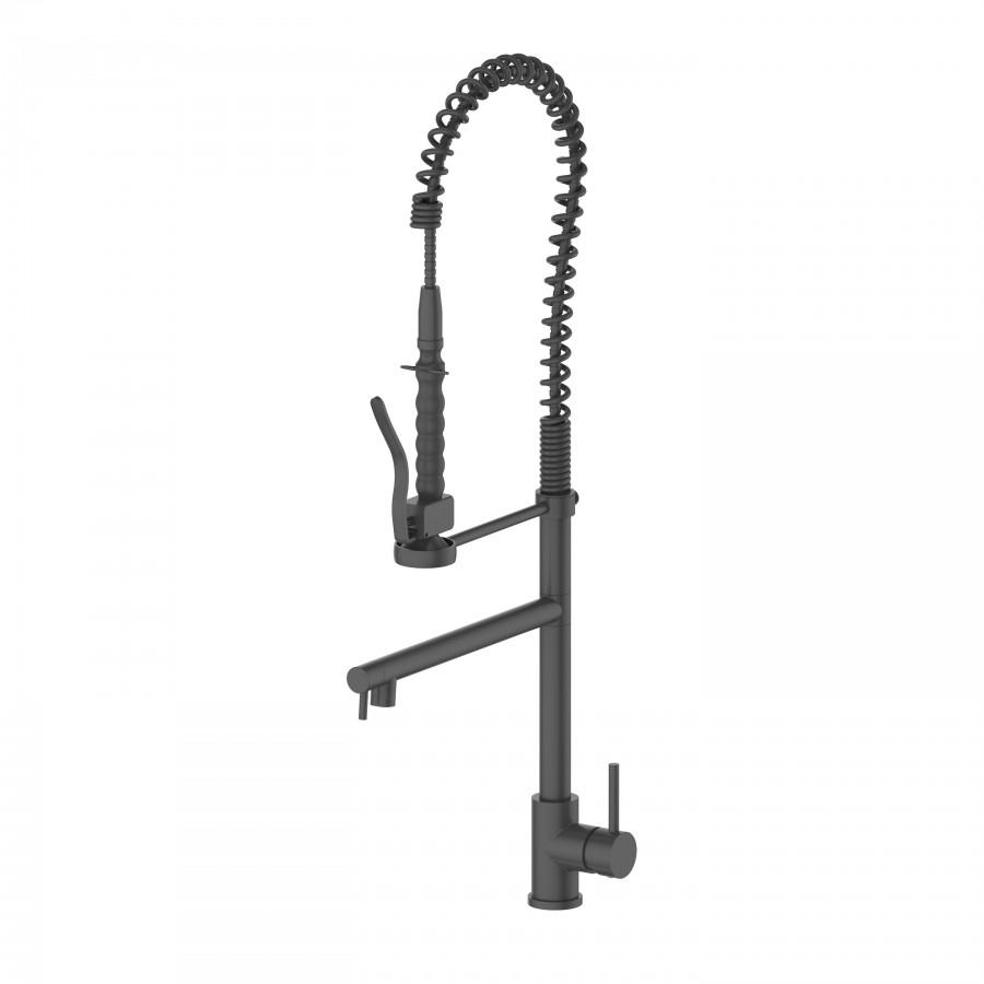 ZLINE Van Gogh Kitchen Faucet in Electric Matte Black, 12-0140-EMB - Farmhouse Kitchen and Bath