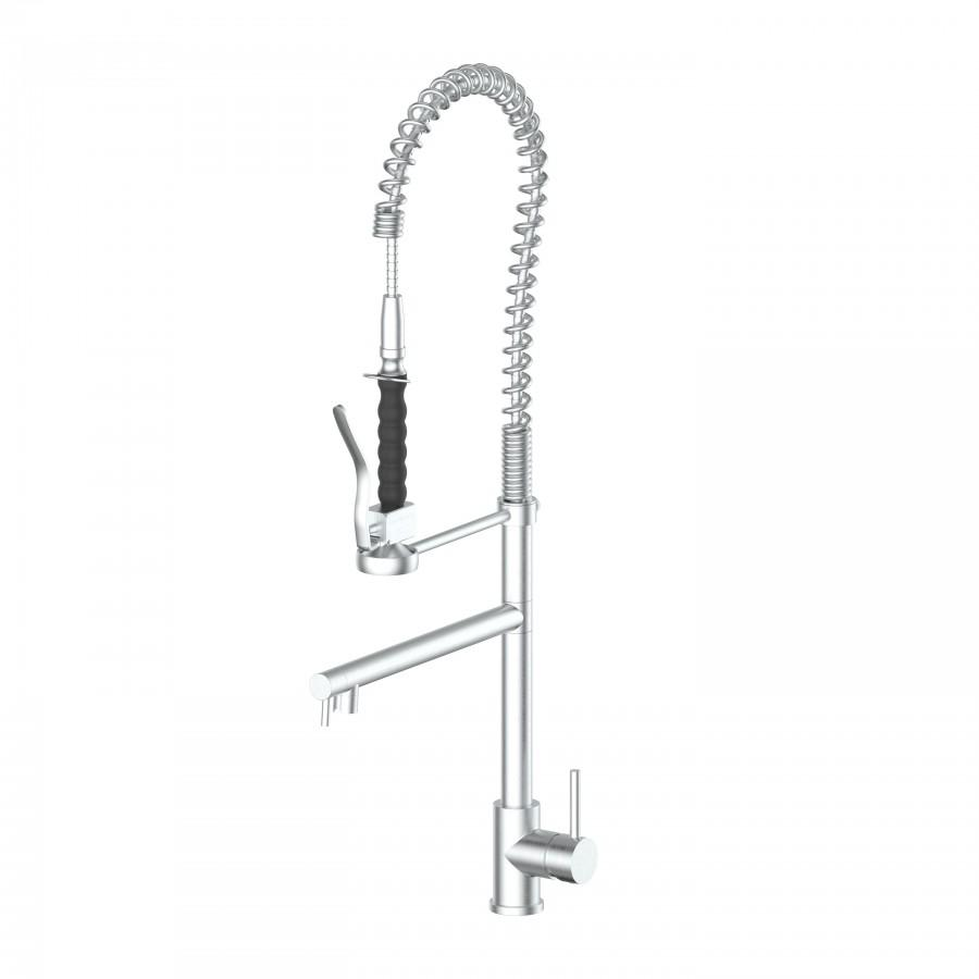 ZLINE Van Gogh Kitchen Faucet in Brushed Nickel, 12-0140-PVDN - Farmhouse Kitchen and Bath