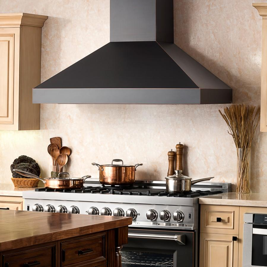 "ZLINE 30"" Oil-Rubbed Bronze Wall Range Hood, 8667B-30"