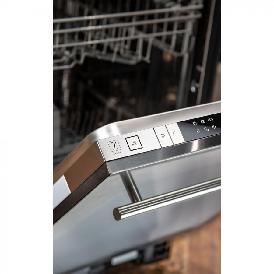 "ZLINE 18"" Top Control Dishwasher, Stainless Steel, Stainless Steel Tub, DW-304-18 - Farmhouse Kitchen and Bath"