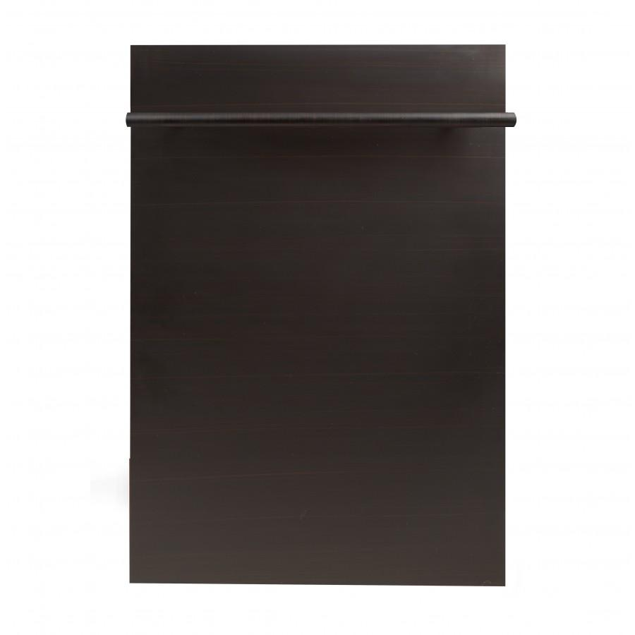 "ZLINE 18"" Dishwasher Panel, Oil Rubbed Bronze, Modern Handle, DP-ORB-18 - Farmhouse Kitchen and Bath"