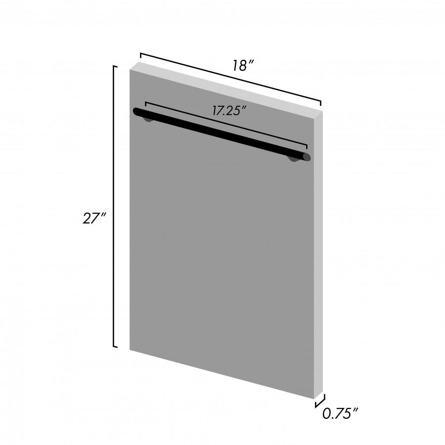 "ZLINE 18"" Dishwasher Panel, Stainless Steel, Modern Handle, DP-304-18 - Farmhouse Kitchen and Bath"