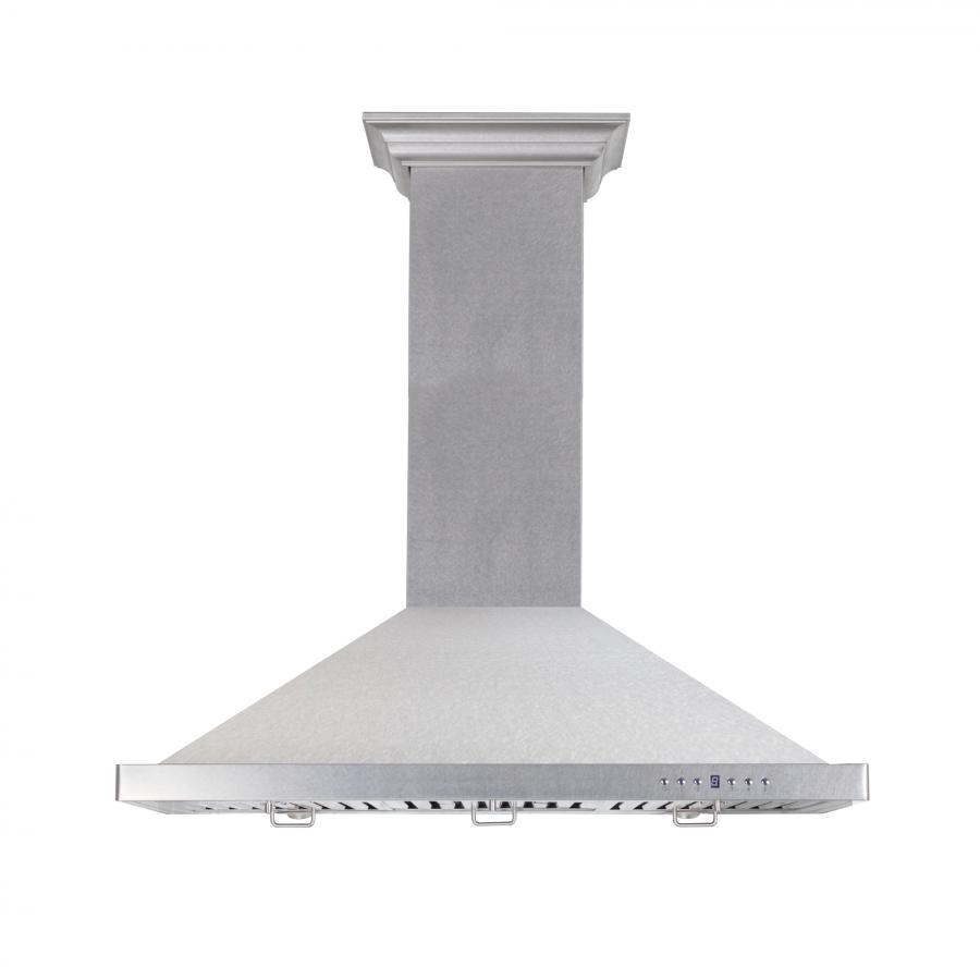 "ZLINE 36"" Snow Finished Stainless Steel Wall Mount Range Hood, 8KBS-36 - Farmhouse Kitchen and Bath"