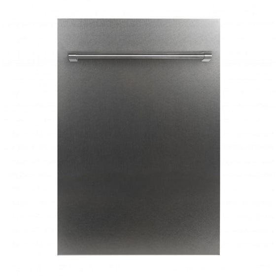 "ZLINE 18"" Dishwasher in DuraSnow® Stainless, Traditional Handle, DW-SS-H-18 - Farmhouse Kitchen and Bath"
