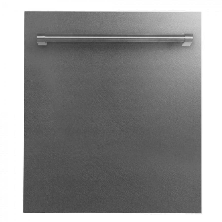 "ZLINE 24"" Dishwasher Panel, Snow Finish, Traditional Handle, DP-SS-H-24 - Farmhouse Kitchen and Bath"