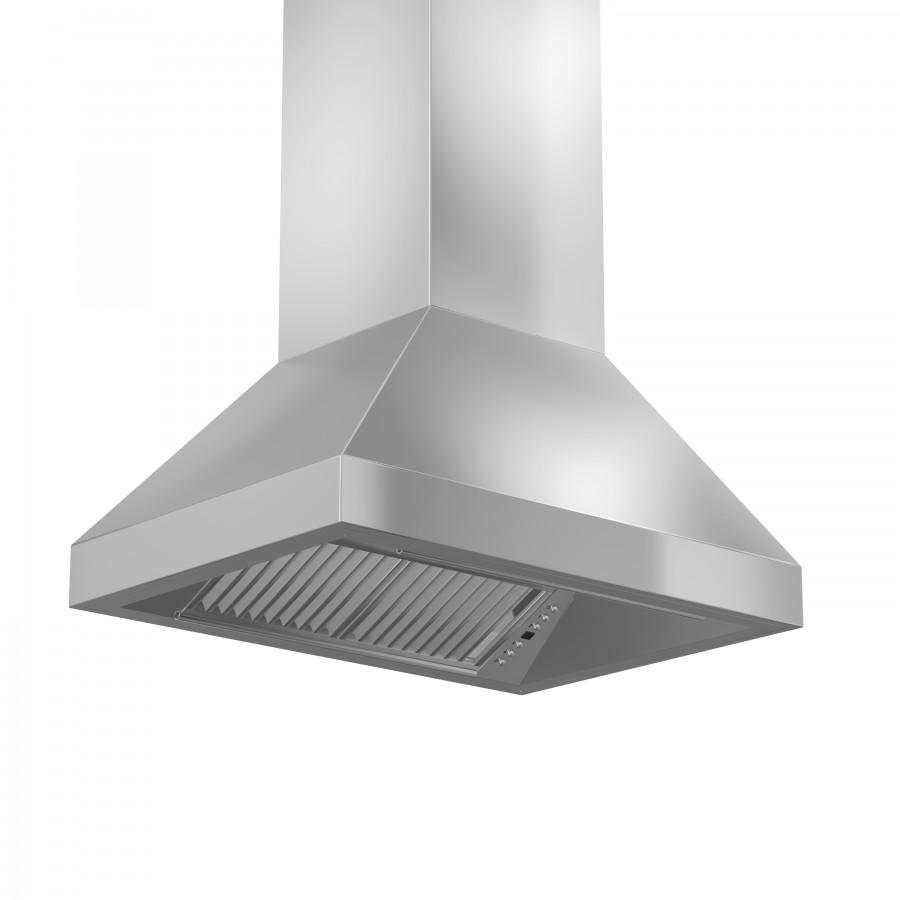 "ZLINE 30"" Remote Dual Blower Stainless Island Range Hood, 597i-RD-30 - Farmhouse Kitchen and Bath"