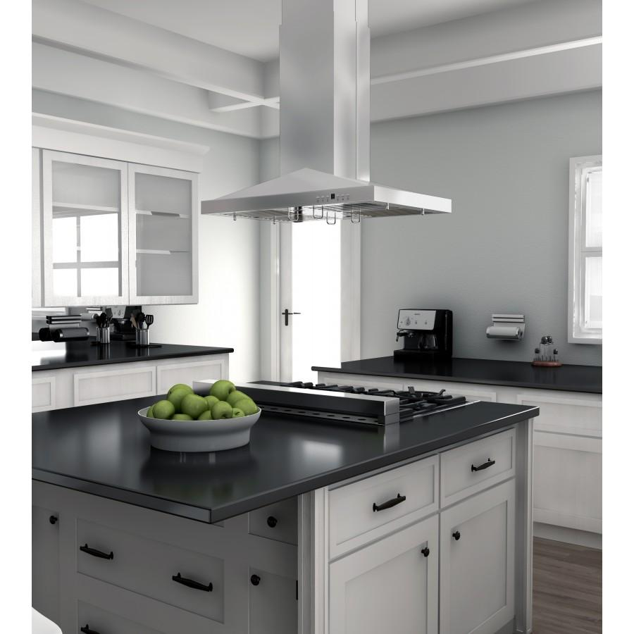 "ZLINE 30"" Stainless Steel Island Range Hood, GL1i-30 - Farmhouse Kitchen and Bath"