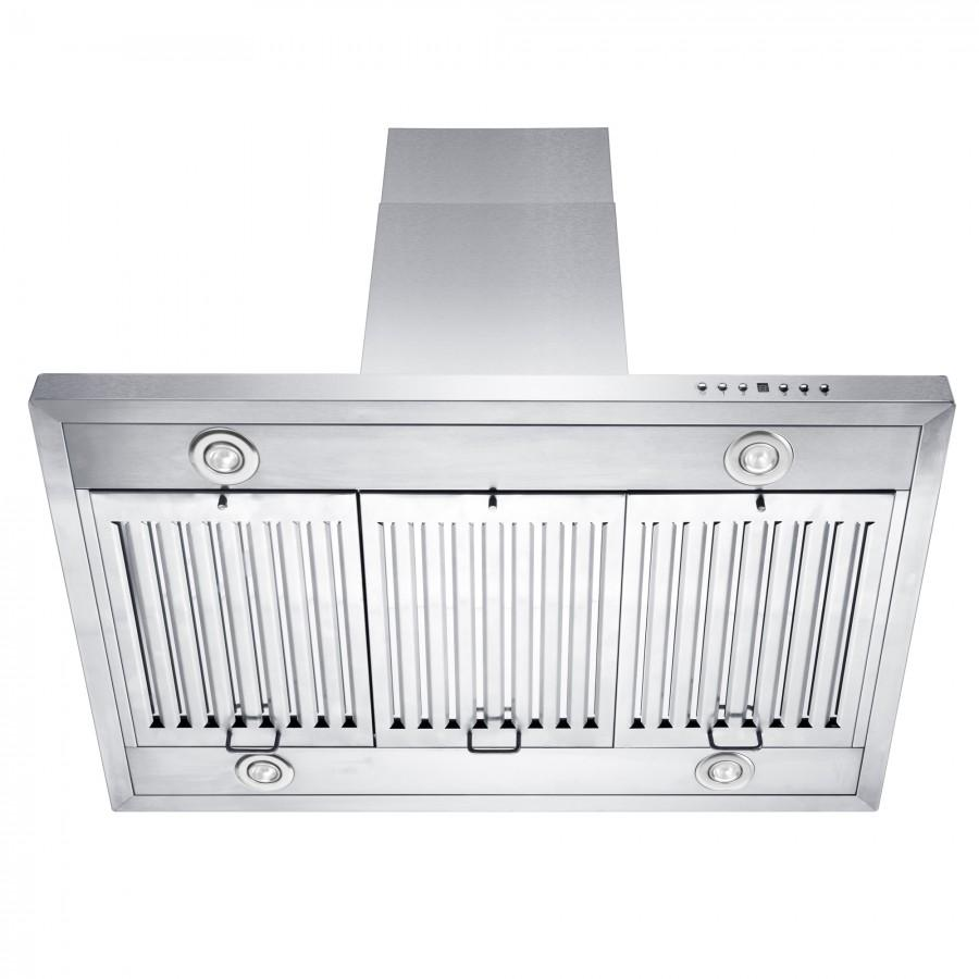 "ZLINE 48"" Stainless Steel Island Range Hood, GL2i-48 - Farmhouse Kitchen and Bath"