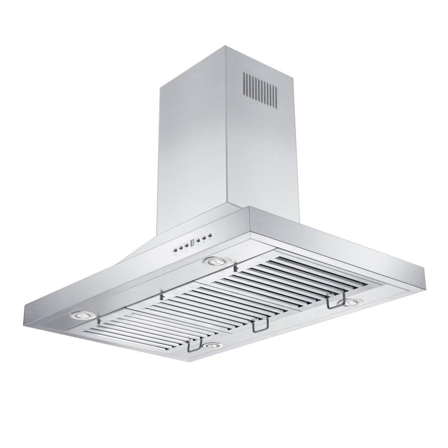 "ZLINE 36"" Remote Blower 400 CFM Island Range Hood, GL2i-RS-36-400 - Farmhouse Kitchen and Bath"