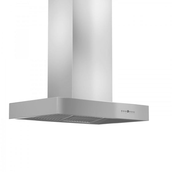 "ZLINE 60"" Stainless Steel Island Range Hood, KECOMi-60 - Farmhouse Kitchen and Bath"