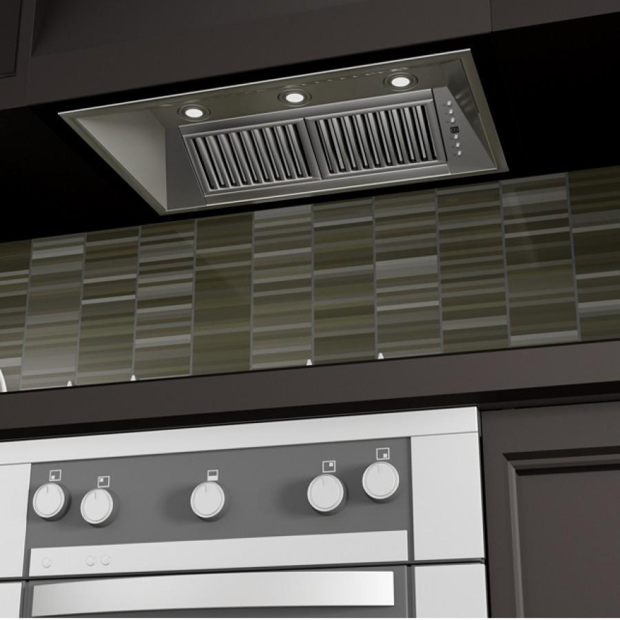 "ZLINE 40"" Stainless In/Outdoor Under Cabinet RangeHood Insert, 721-304-40 - Farmhouse Kitchen and Bath"