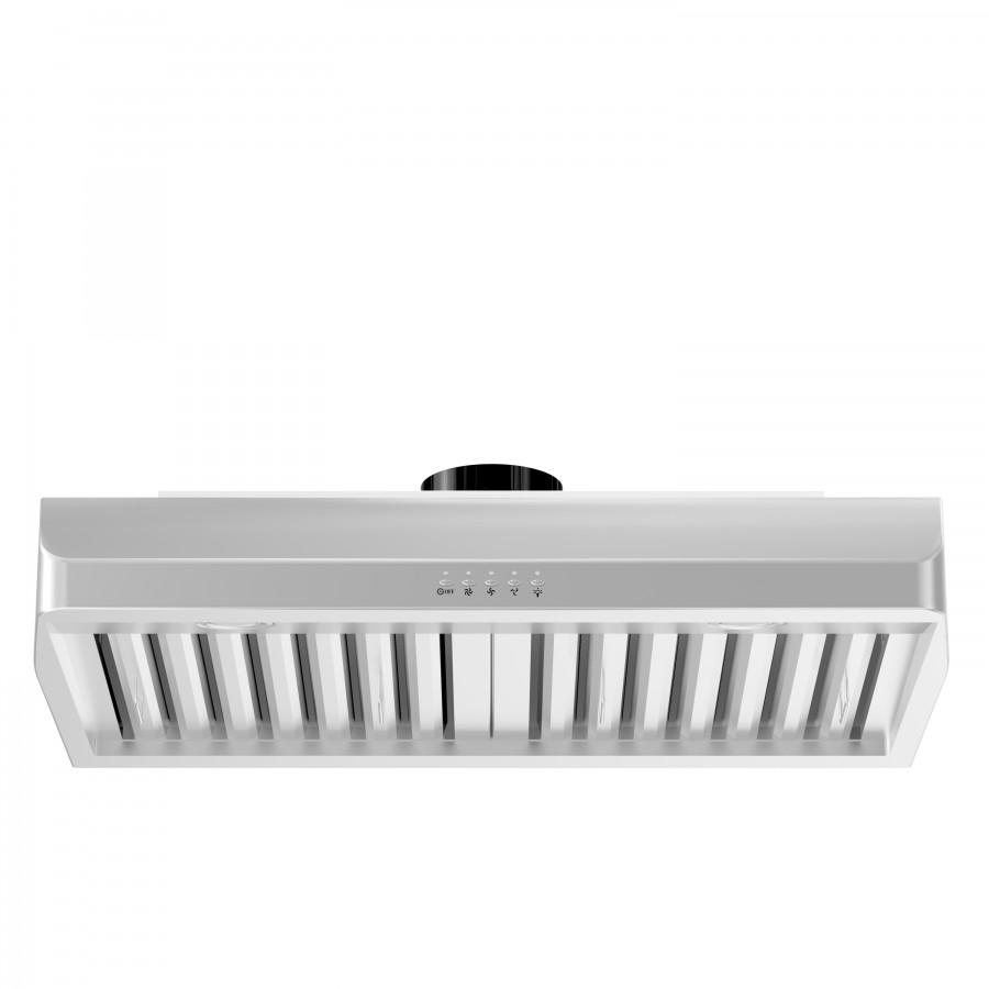"ZLINE 48"" Under Cabinet Stainless Steel Range Hood 625-48 - Farmhouse Kitchen and Bath"