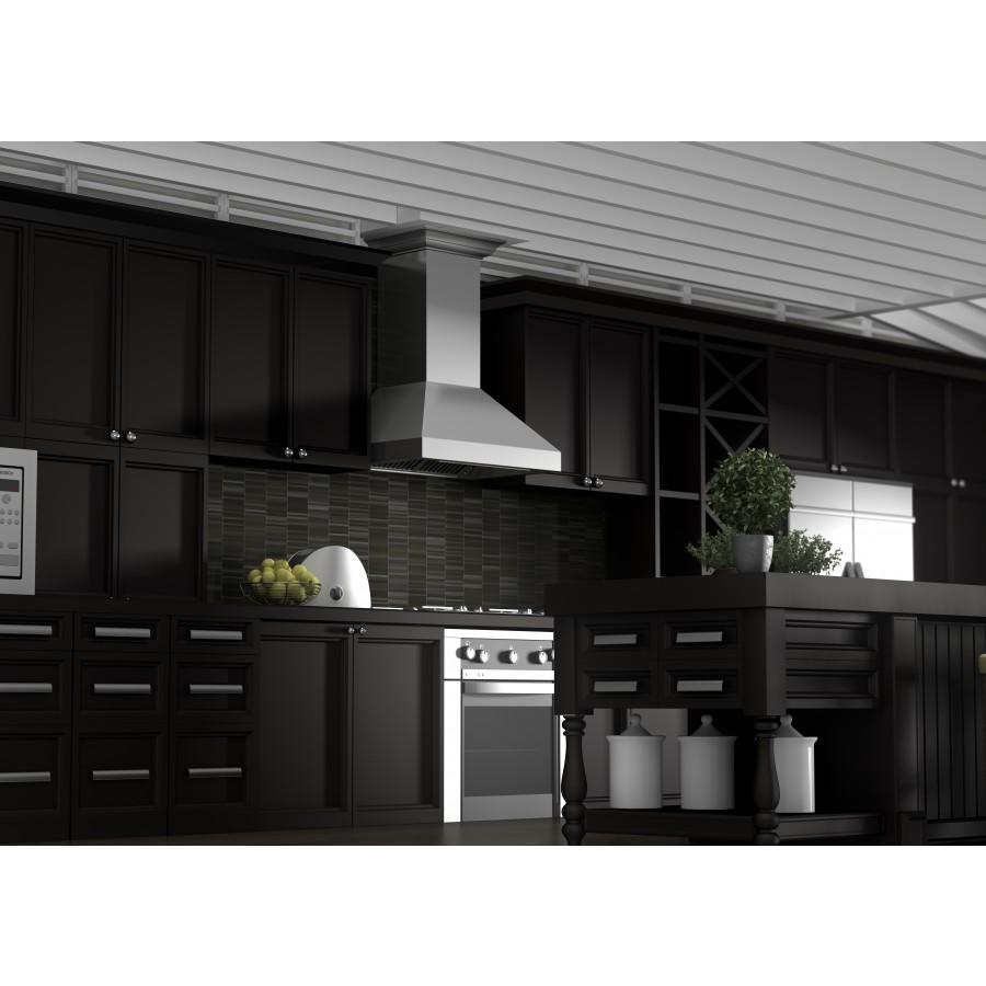 "ZLINE 60"" Professional Wall Range Hood, Stainless Steel, 597CRN-60 - Farmhouse Kitchen and Bath"