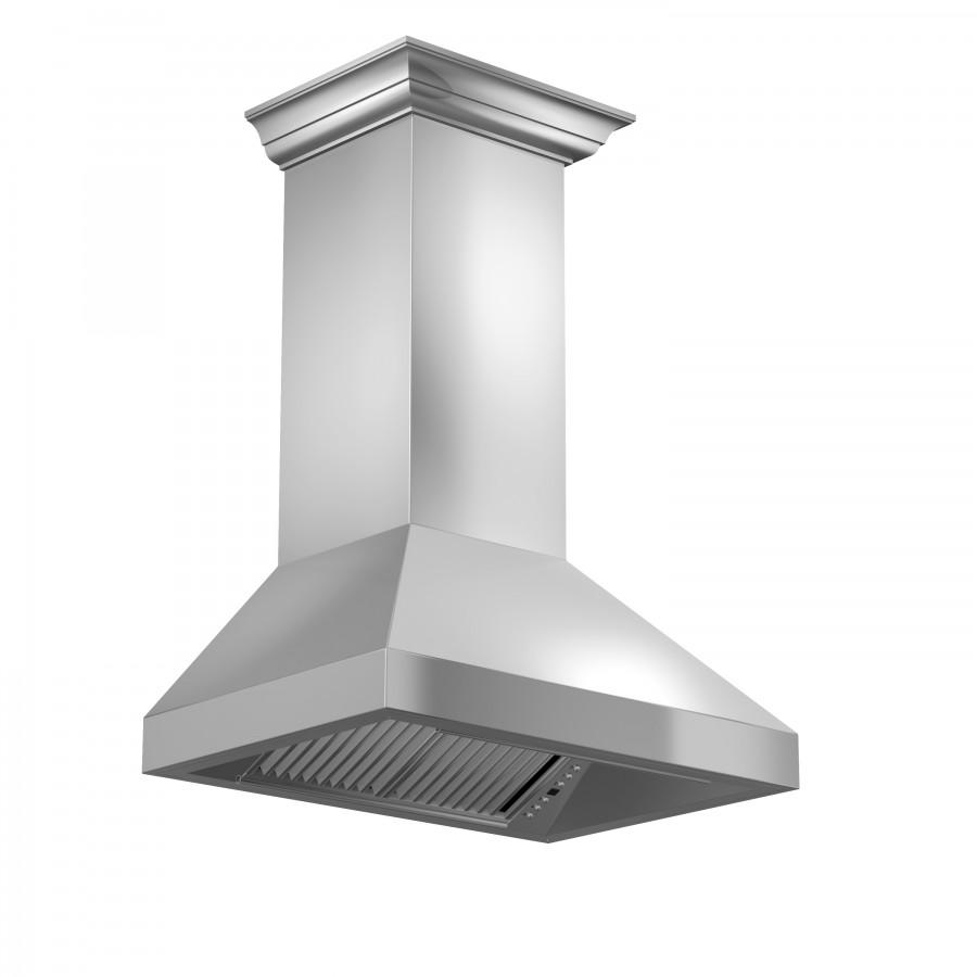 "ZLINE 30"" Professional Wall Range Hood, Stainless Steel, 597CRN-30 - Farmhouse Kitchen and Bath"