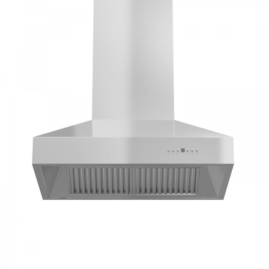"ZLINE 30"" Outdoor/Indoor Stainless Steel Wall Range Hood, 667-304-30 - Farmhouse Kitchen and Bath"