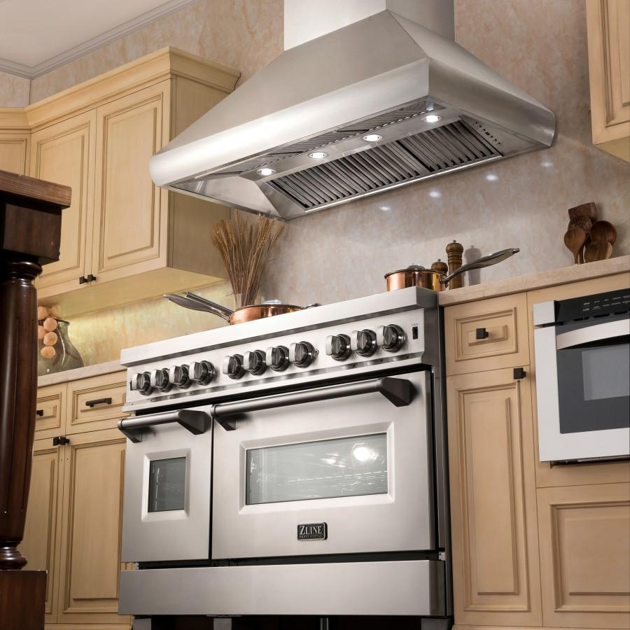 "ZLINE 30"" Remote Blower Stainless Steel Wall Range Hood, 687-RS-30-400 - Farmhouse Kitchen and Bath"