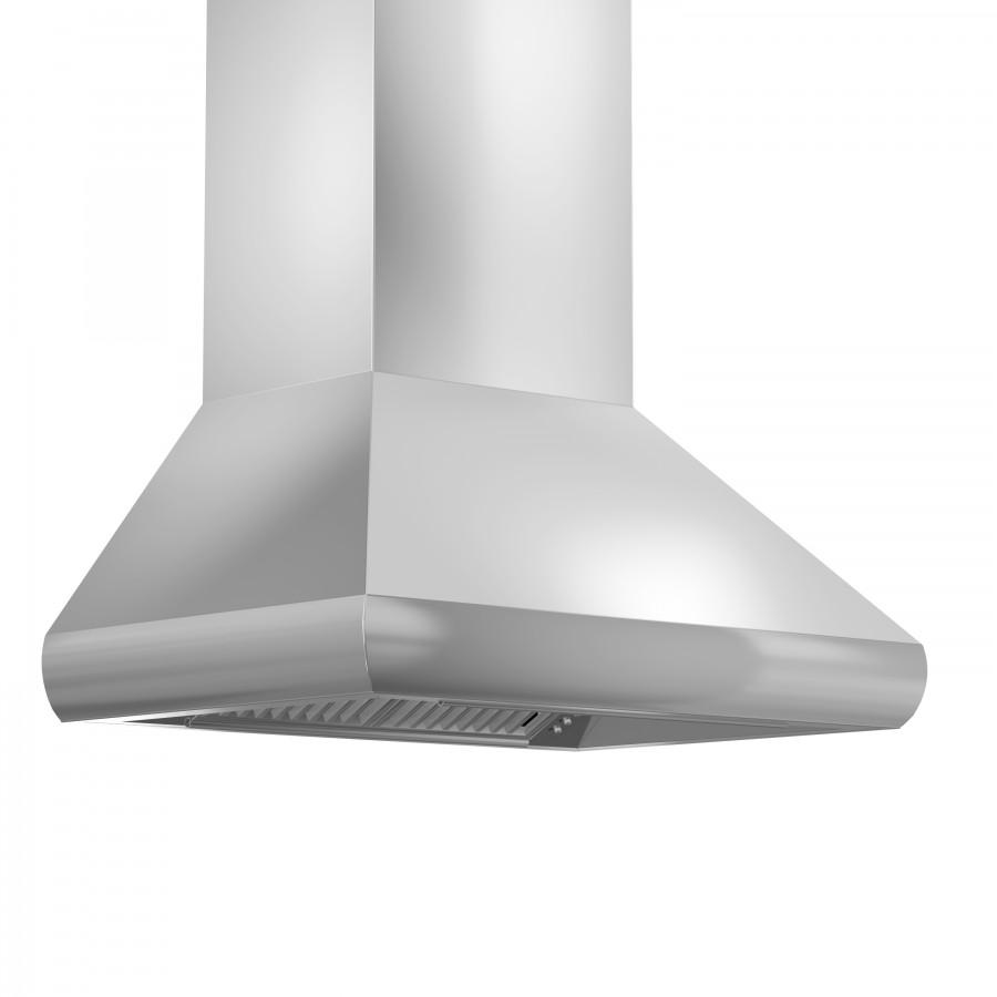 "ZLINE 36"" Remote Blower Stainless Steel Wall Range Hood, 687-RS-36-400 - Farmhouse Kitchen and Bath"