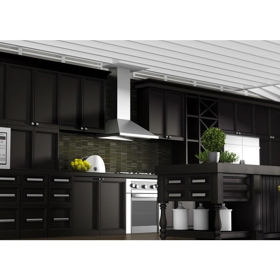 "ZLINE 36"" Outdoor/Indoor Stainless Wall Range Hood, 696-304-36 - Farmhouse Kitchen and Bath"