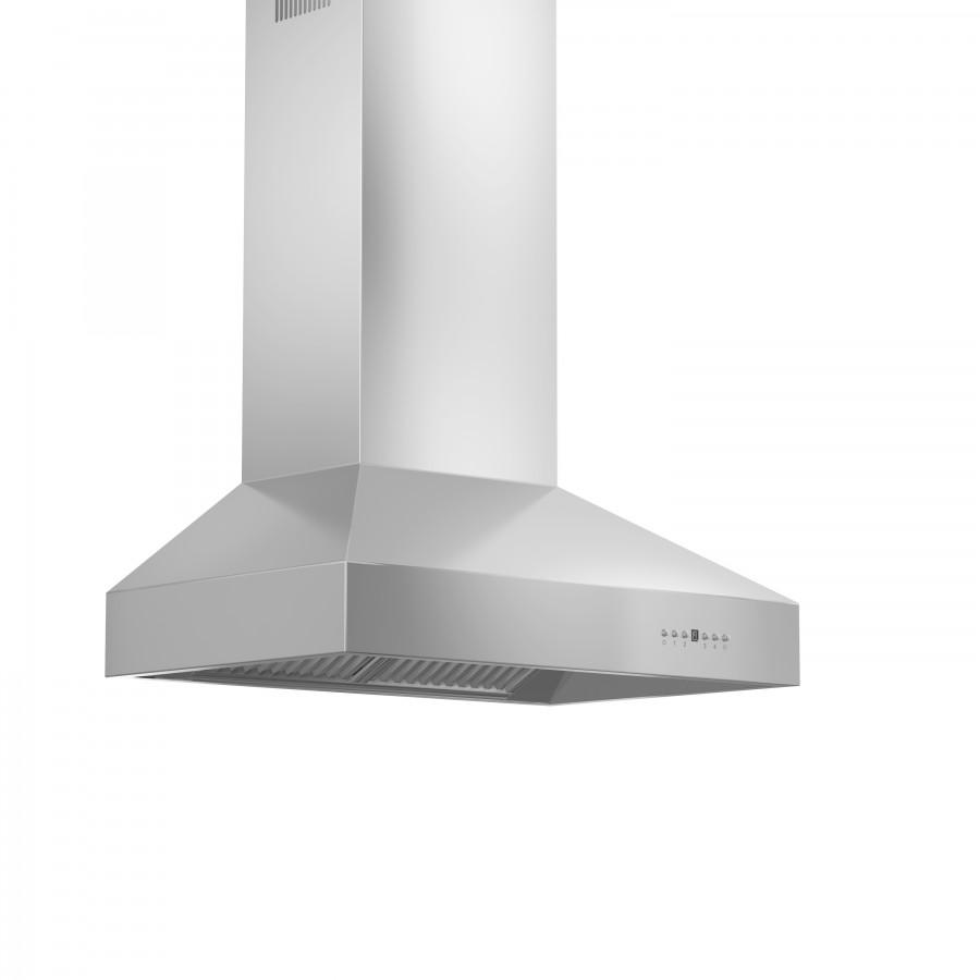 "ZLINE 54"" Outdoor/Indoor Stainless Wall Range Hood, 697-304-54 - Farmhouse Kitchen and Bath"