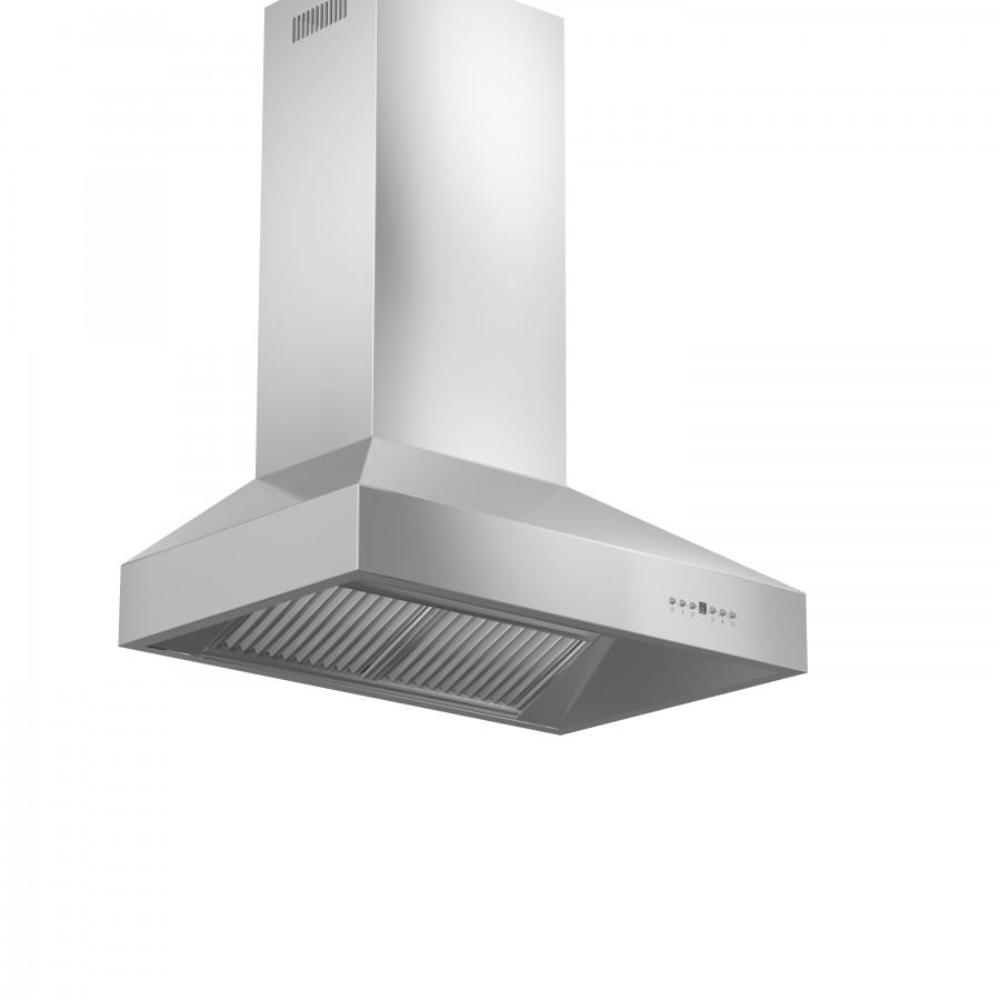 "ZLINE 60"" Stainless Steel Wall Range Hood, 697-60 - Farmhouse Kitchen and Bath"