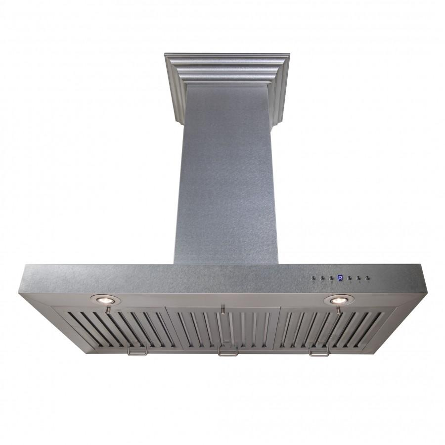 "ZLINE 36"" Wall Mount Range Hood, Snow Finished Stainless Steel, 8KES-36 - Farmhouse Kitchen and Bath"