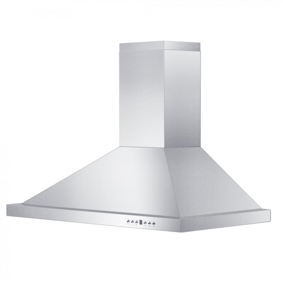 "ZLINE 36"" Outdoor/Indoor Stainless Steel Wall Range Hood, KB-304-36 - Farmhouse Kitchen and Bath"