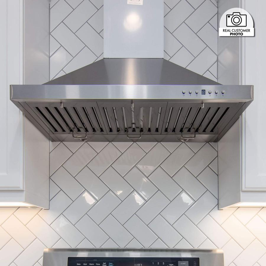 "ZLINE 36"" Stainless Steel Wall Range Hood KB-36 - Farmhouse Kitchen and Bath"