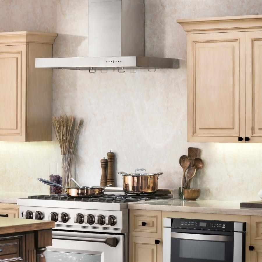 "ZLINE 48"" Stainless Steel Wall Range Hood KE-48 - Farmhouse Kitchen and Bath"