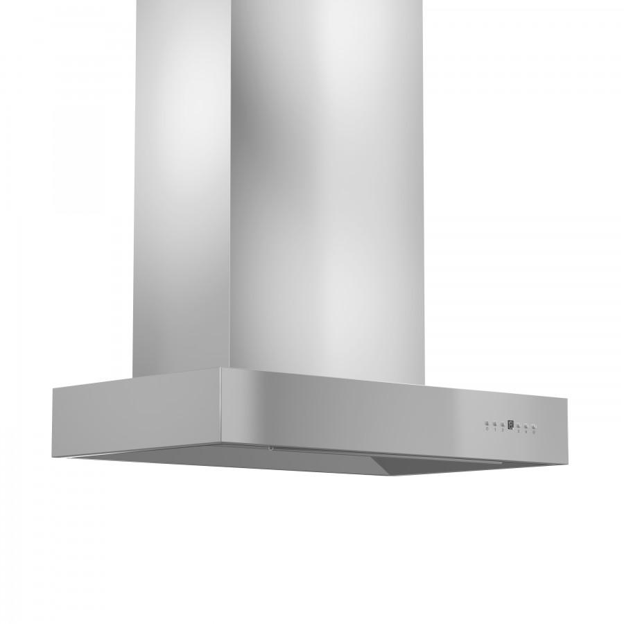 "ZLINE 42"" Stainless Steel Wall Range Hood, KECOM-42 - Farmhouse Kitchen and Bath"