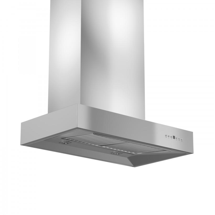 "ZLINE 42"" Remote Dual Blower Stainless Wall Range Hood, KECOM-RD-42 - Farmhouse Kitchen and Bath"